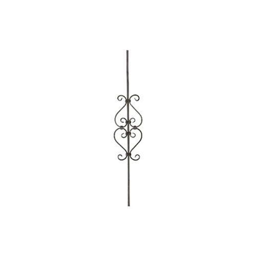 Tralka ozdobna z dużym motywem 4 x S 900 mm kwadrat 12 mm