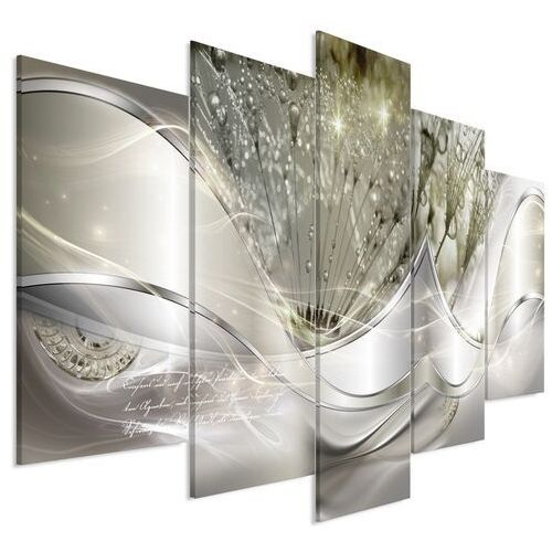 Obraz - nowoczesne dmuchawce (5-częściowy) zielony szeroki marki Artgeist