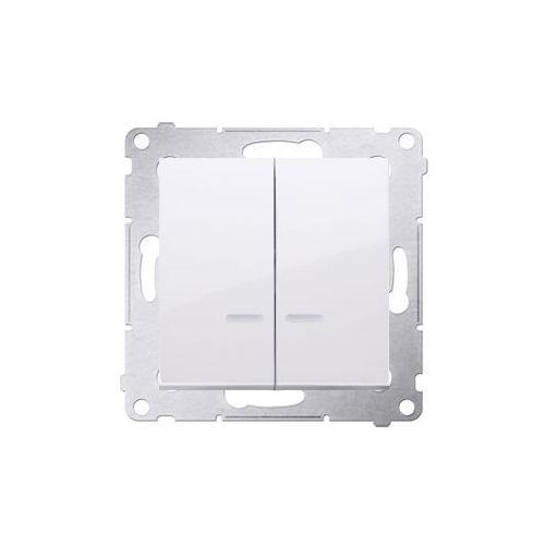 Łącznik podtynkowe Kontakt-Simon 54 DW5BL.01/11 świecznikowy z podświetleniem LED do wersji IP44 biały