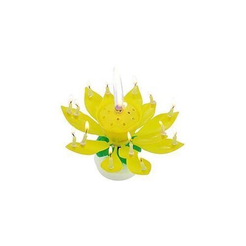 Świeczka grająca - tańcząca - żółta