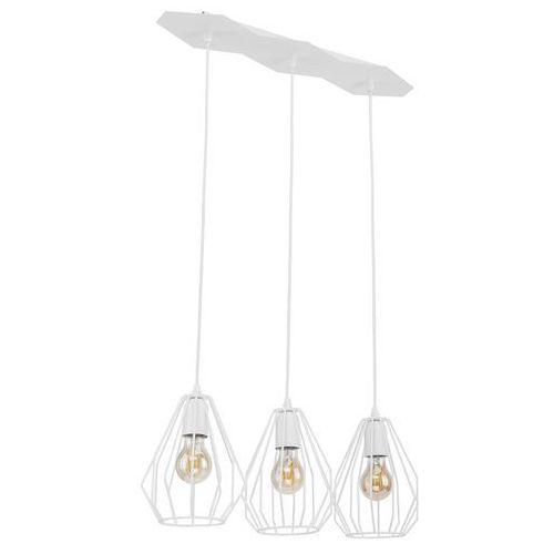 Tklighting Lampa wisząca druciana zwis loft tk lighting brylant 3x60w e27 biała 2225