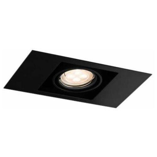 Spot lampa sufitowa ebino 3305 podtynkowa oprawa metalowe oczko prostokątna wpust czarny marki Shilo