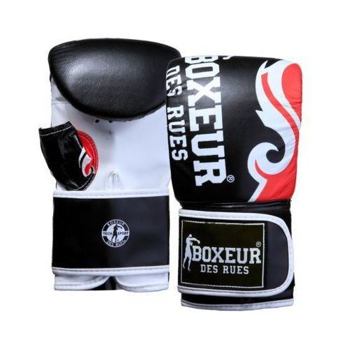 Rękawice bokserskie BOXEUR BXT-5139 (rozmiar M) Czarno-czerwony (8058660514117)