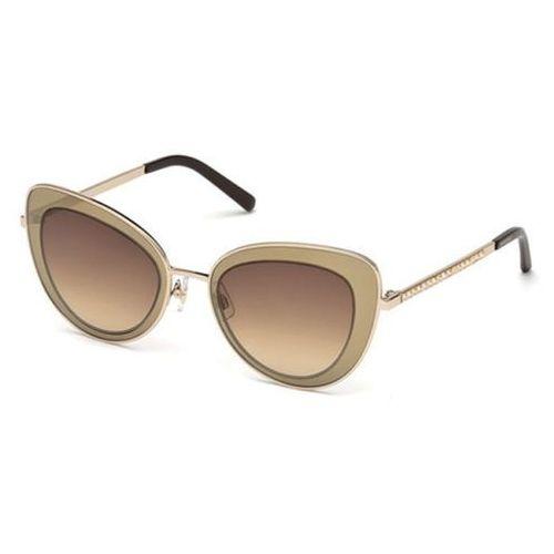 Okulary Słoneczne Swarovski SK 0144 48F, kolor żółty