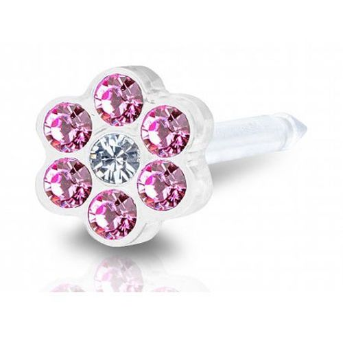 Blomdahl DAISY ROSE / CRYSTAL 5 mm