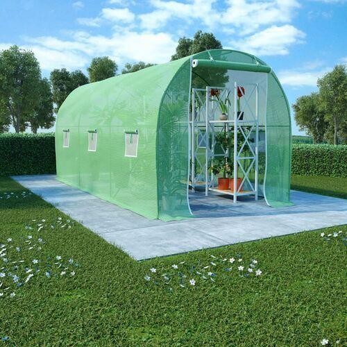 Vidaxl szklarnia ogrodowa, stalowa konstrukcja, 9 m², 4,5x2x2 m
