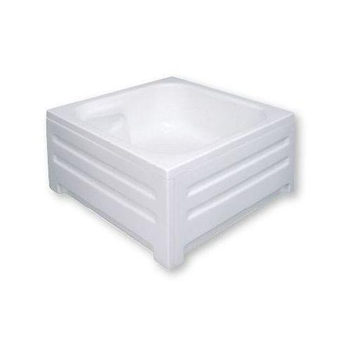 POLIMAT Brodzik kwadratowy z siedziskiem 80x80x26x42cm, akrylowy 00075