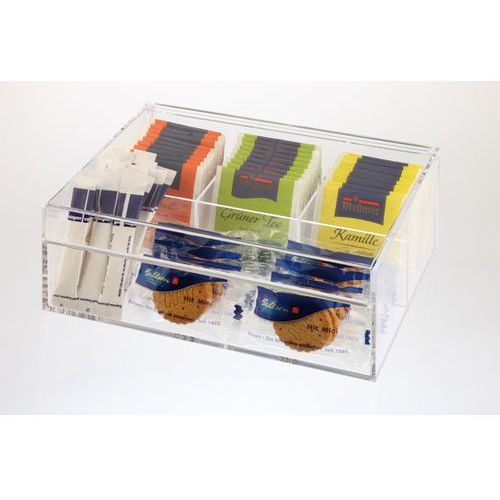Pudełko ekspozycyjne na herbatę 220x170x90 mm, przeźroczyste   APS, 11563