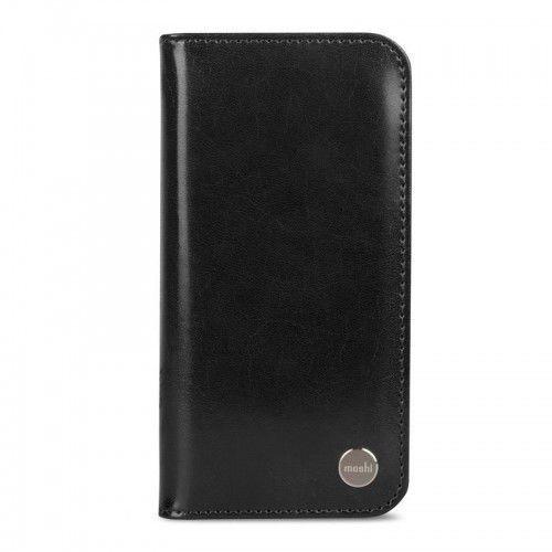 Moshi Overture - Etui iPhone X z kieszeniami na karty + stand up (Charcoal Black), kolor czarny