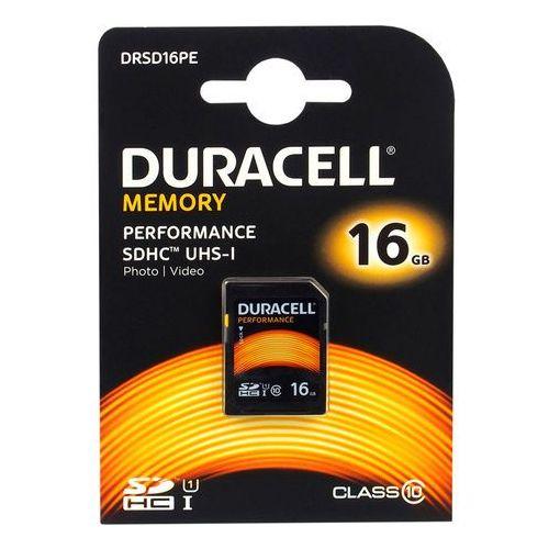 Karta pamięci  16gb sdhc class 10 uhs-1 - drsd16pe - drsd16pe darmowy odbiór w 19 miastach!, marki Duracell