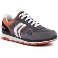 Sneakersy GEOX - U Sandford B Abx A U92S7A 022FU C0036 Grey/Orange, kolor szary