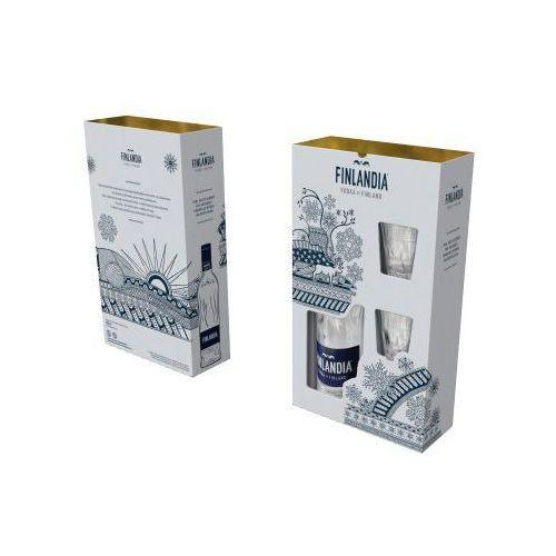 Świąteczna wódka finlandia 0,5l w zestawie z dwoma kieliszkami marki Finlandia vodka