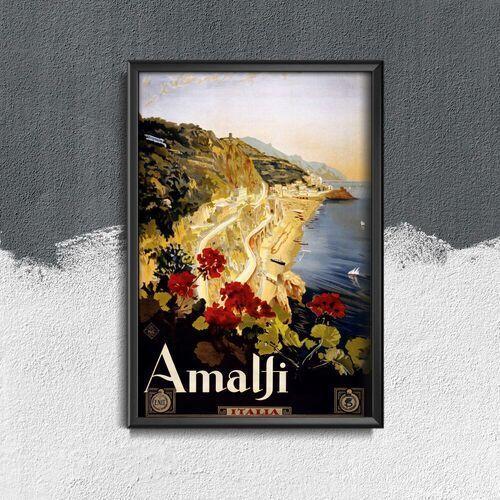 Plakat w stylu vintage plakat w stylu vintage amalfi włochy marki Vintageposteria.pl