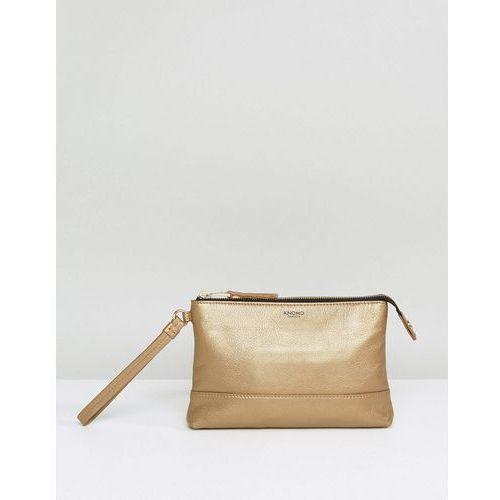 Knomo Leather Powered Mini Clutch Bag - Gold