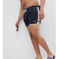 plus swim shorts with taping exclusive in black - black, Ellesse, XXXL-XXXXL