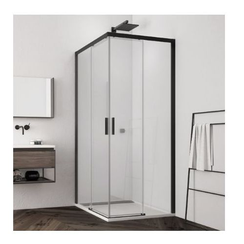 SanSwiss Top Line S wejście narożne z drzwiami rozsuwanymi 80x100cm TLSG0800607+TLSD1000607