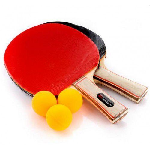 Zestaw - 2 rakietki do tenisa stołowego+3 piłeczki marki Meteor