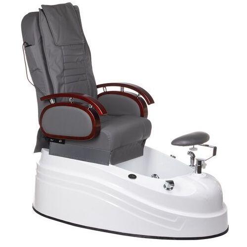 Beauty system Fotel do pedicure z masażem br-2307 szary