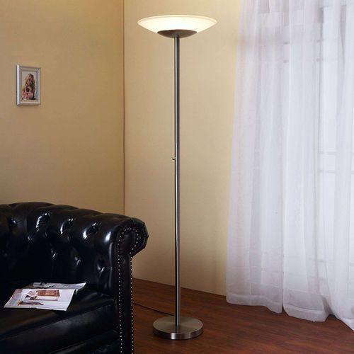 Klasyczna lampa podłogowa aluminium zawiera led ściemniaczem - ragna marki Lindby