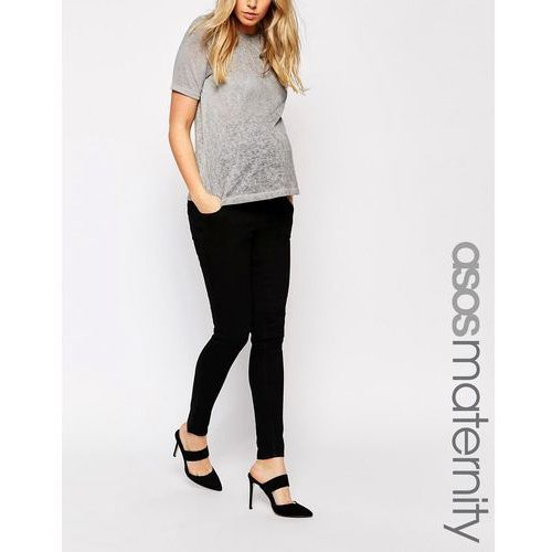 ridley skinny jean in clean black with over the bump waistband - black marki Asos maternity