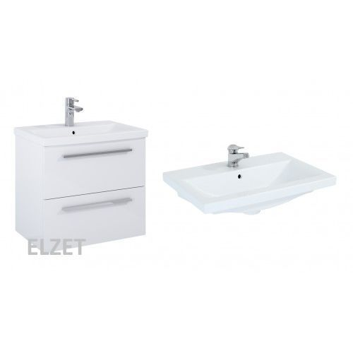 Elita szafka kwadro plus 2s white + umywalka milos 60 166712.155760