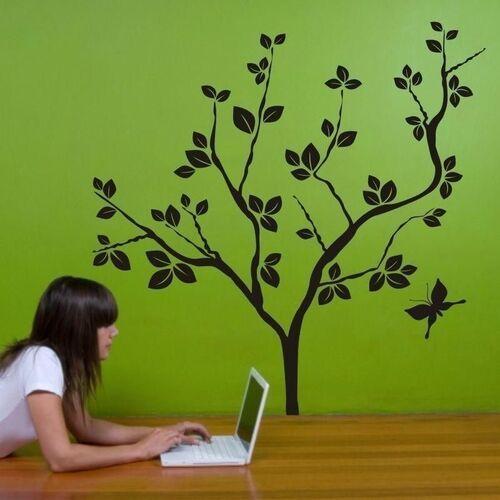 Wally - piękno dekoracji Naklejka welurowa drzewo 1035