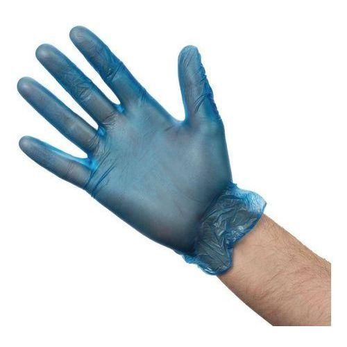 Rękawiczki winylowe niebieskie | 100 szt. | różne rozmiary marki Vogue