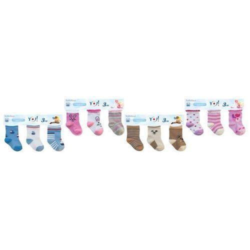 YO! Baby SKC 3-pak A'3 mix skarpetki (5906714431817)