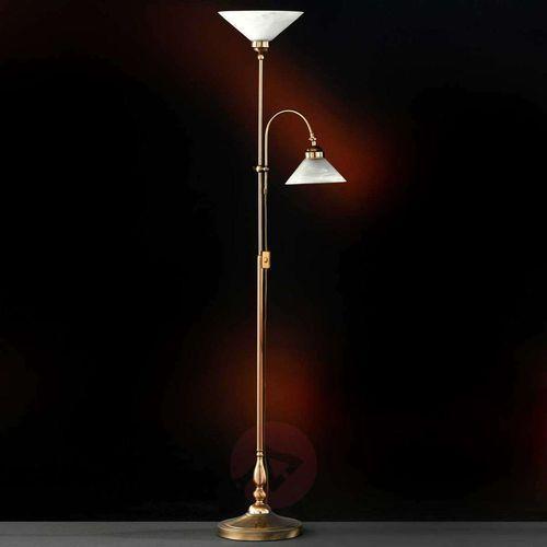 Honsel Antwerpen lampa stojąca Mosiądz, Stal nierdzewna, Biały, Złoty, 2-punktowe (4001133478427)