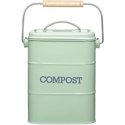 Pojemnik metalowy na odpadki bio z filtrem węglowym kitchen craft (lncompgrn) (5028250768957)