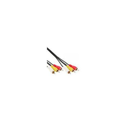 InLine kabel Cinch Audio/Video 3x wtyczka / 3x wtyczka - 3,0 m z kategorii Kable video
