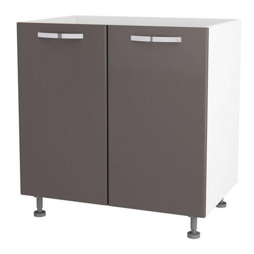 Szafka kuchenna dolna zlewozmywakowa 2-drzwiowa City II DZ-80/2 titanium (5908305640752)
