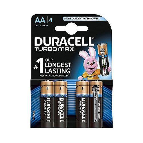 Baterie alkaliczne turbo aa lr6 1,5v, 4 + 2szt. marki Duracell