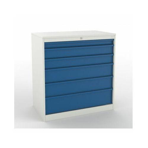 Szafa narzędziowa z 6 szufladami szw 302 do warsztatu metalowa marki Malow