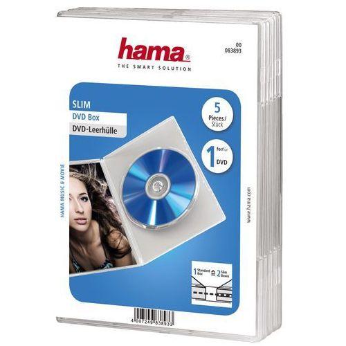 Pudełko HAMA DVD Slim Box Przezroczysty (5 sztuk) (4007249838933)
