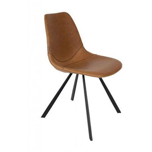 Dutchbone Krzesło FRANKY brązowe 1100281, kolor brązowy