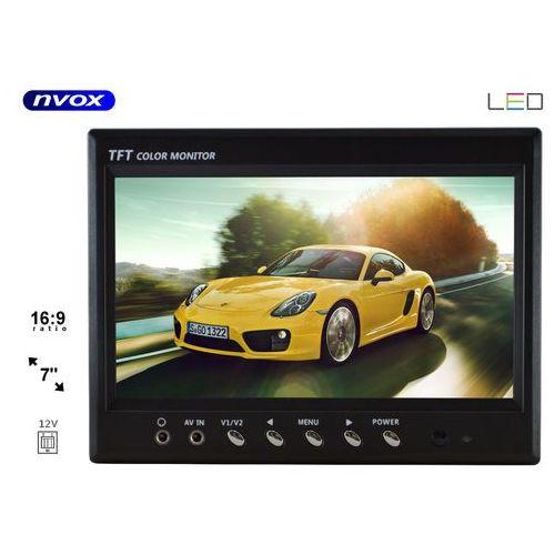 "NVOX HT 970 Monitor samochodowy cofania lub zagłówkowy LCD 7"" cali monitoring AV (5901867720429)"