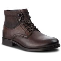 Tommy jeans Trzewiki - casual leather boot em0em00141 coffee bean 212