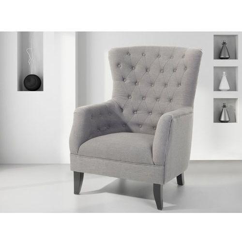 Fotel tapicerowany szary - krzesło - VIBORG
