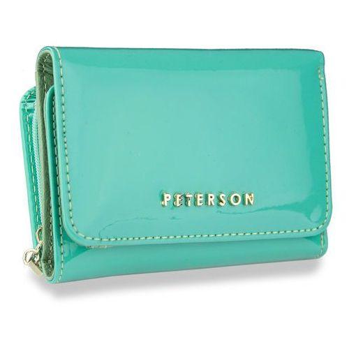 3eb9a846ba851 portfel damski skórzany lakierowany jasny zielony pz455 marki Peterson
