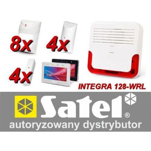 Zestaw alarmowy integra 128-wrl, klawiatura dotykowa, 8 czujników ruchu, 4 czujniki ruchu dualne, 4 czujniki wibracyjne, marki Satel