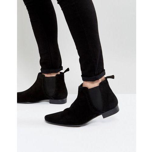 New Look Suede Chelsea Boot In Black - Black