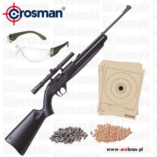 Wiatrówka 760 pumpmaster kal. 4,5mm - zestaw: luneta 4x15 mm, okulary ochronne, śrut, kulki, tarcze marki Crosman
