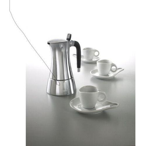 Casa Bugatti - MILLA Zestaw - Kawiarka 3cup + 3 filizanki do kawy ze spodkami