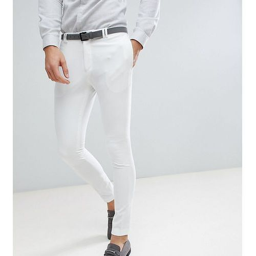 Noak Skinny Fit Wedding Suit Trousers In Cream - Cream