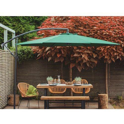 Parasol ogrodowy na wysięgniku - stojak metalowy - zielony (7081456234549)