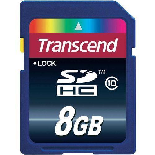 Karta pamięci SDHC Transcend TS8GSDHC10, 8 GB, Class 10, 20 MB/s / 11 MB/s