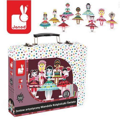 Zestaw artystyczny mandala księżniczki świata - zabawki dla dzieci marki Janod