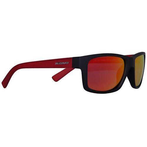 Okulary rowerowe POL602 Czarny/Czerwony Red Revo Mirror Polarized