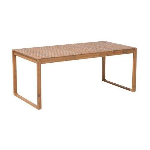 Beliani Stół ogrodowy drewno akacjowe 180 x 90 cm sassari (4260586356496)